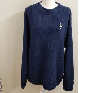 NWT - Pink Victoria's Secret Navy Blue  Sweater